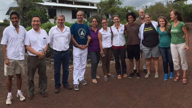 Mangrove Finch Conservation Workshop participants. CDF Puerto Ayora, September 18th, 2015.