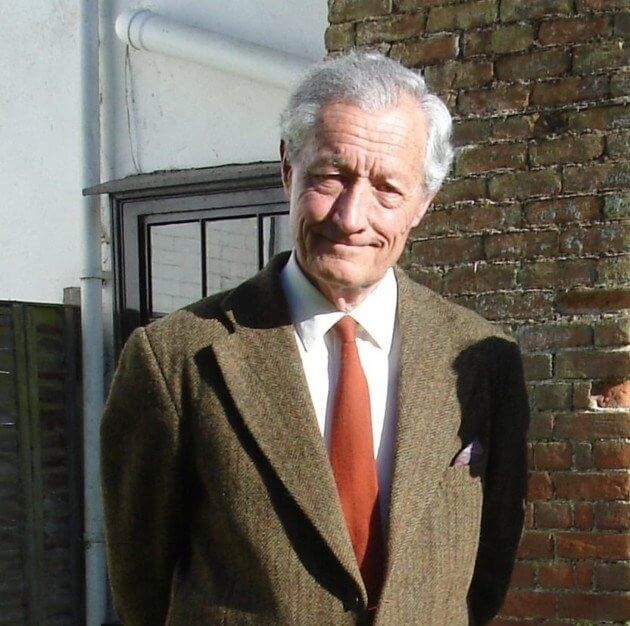 Roger Perry pictured at his home in Wetheringsett in 2012. Photograph from the East Anglian Daily Times.