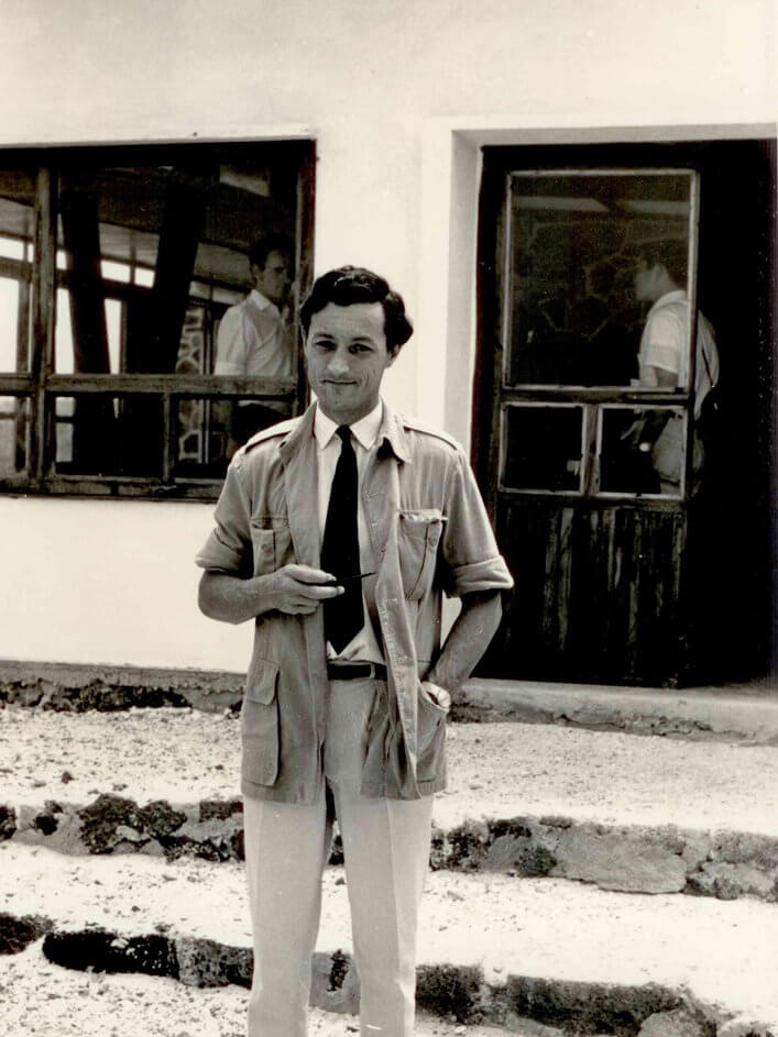 Roger Perry at the Charles Darwin Research Station.