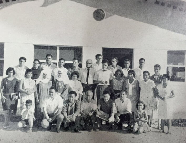 Galapagos teachers participating in Natural History Course organised by CDRS in 1966. Photograph by Tjitte de Vries.