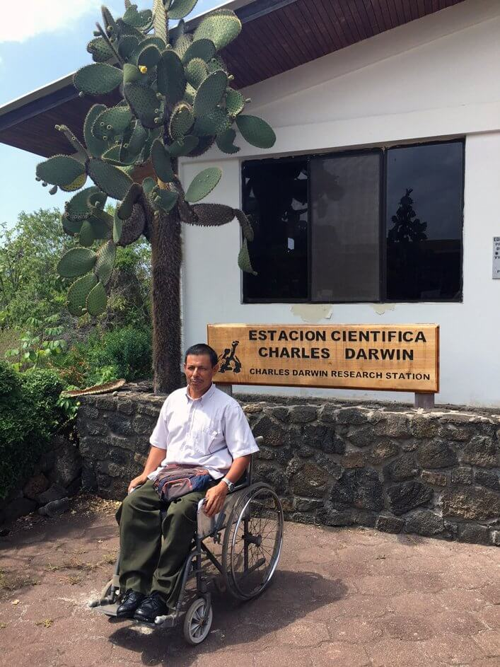 Jorge Herrera at the Charles Darwin Research Station.