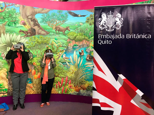 Enjoying the Galapagos Adventure exhibit at Quito's Interactive Science Museum