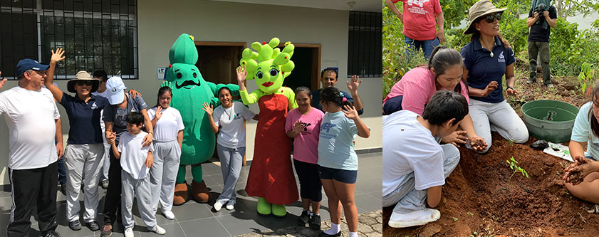 CDF team working with students of the Galápagos Special Education Unit