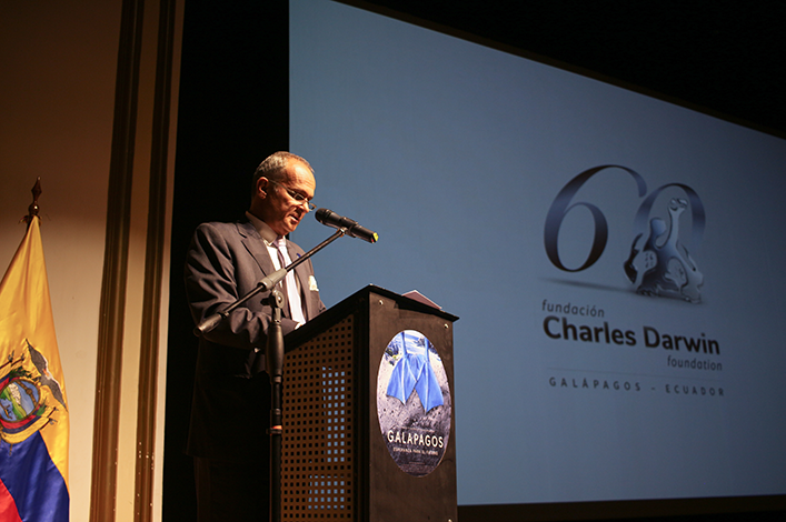 The Charles Darwin Foundation, screens Galapagos Hope for the Future in Quito.