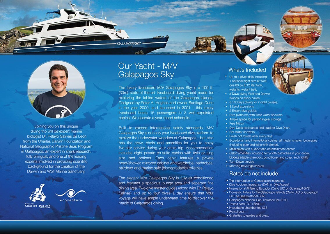 Our scientists will have the opportunity to join the guest aboard the M/V Galapagos Sky to share CDF research projects first-hand.